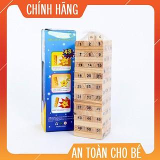 [hàng hot] [Mã TOYDEC giảm 10% tối đa 15K đơn từ 50K] Đồ Chơi Rút Gỗ Wish Toy Cho Bé (54 thanh)