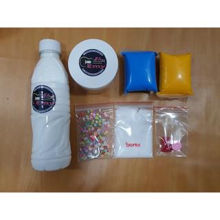 Butter Slime – Bộ Kit Làm Slime Bơ Gồm (Charm + Nail + Borax + Hũ + 2 đất sét + 1 chai keo sữa)