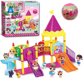 Children Baby Toy Set Surprise Doll Park House Game Slide Playset Girls Kids Gift