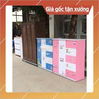 [HN] Tủ nhựa Trẻ em 2 cánh 5 ngăn kéo chất liệu nhựa Đài Loan kích thước cấp _ Free ship Hà nội inbox..