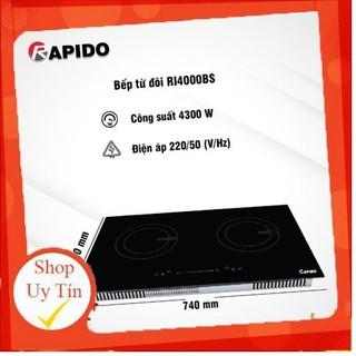 [Chính hãng]Bếp từ đôi RI4000BS có khoá an toàn- 9 cấp độ công suất