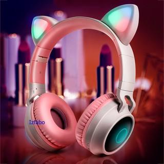Headphone bluetooth tai mèo cao cấp, tai nghe bluetooth mèo đáng yêu chống ồn âm thanh trầm ấm
