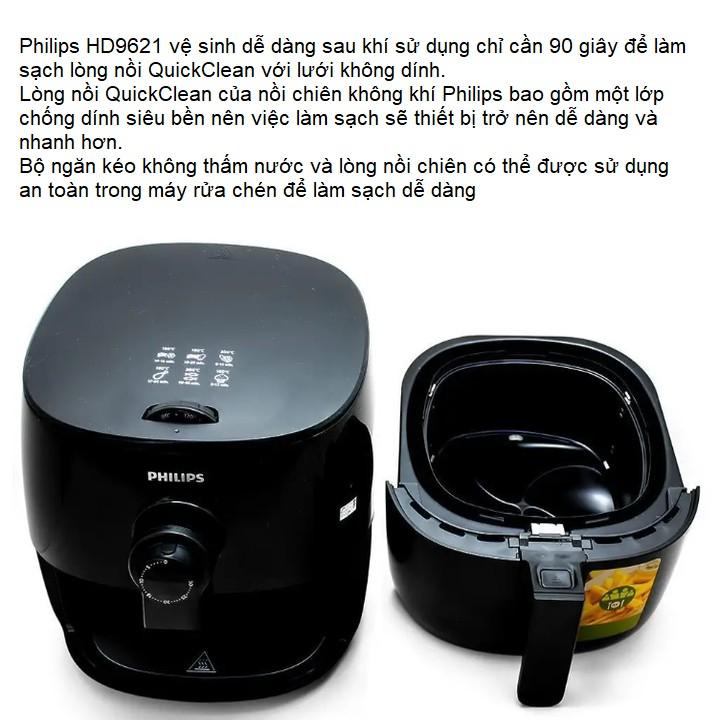 Nồi chiên không dầu, thương hiệu cao cấp Philips HD9621/91 - Bảo hành Chính Hãng: 2 NĂM