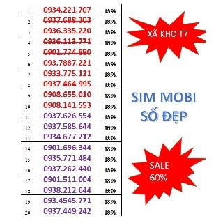 [XÃ KHO SIM MOBI] Sim MobiFone trả trước số đẹp lựa thoải mái chỉ với 189k