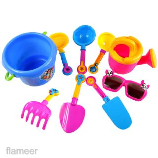 9Pcs Sand Castle Building Beach Water Tools Kits Kid Bucket Spade Shovel Toy