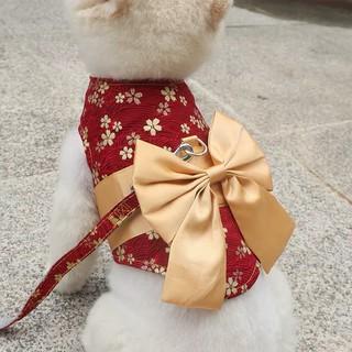 Kimono cho chó mèo kết hợp dây dắt - Dắt Japan thumbnail