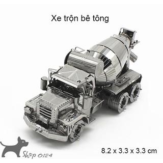 Đồ chơi lắp ghép mô hình 3D xe xây dựng bằng thép