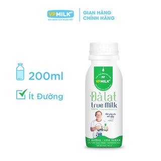 Sữa Tươi Thanh Trùng VPMilk Đà Lạt Fresh Milk – Ít đường Chai 200ml