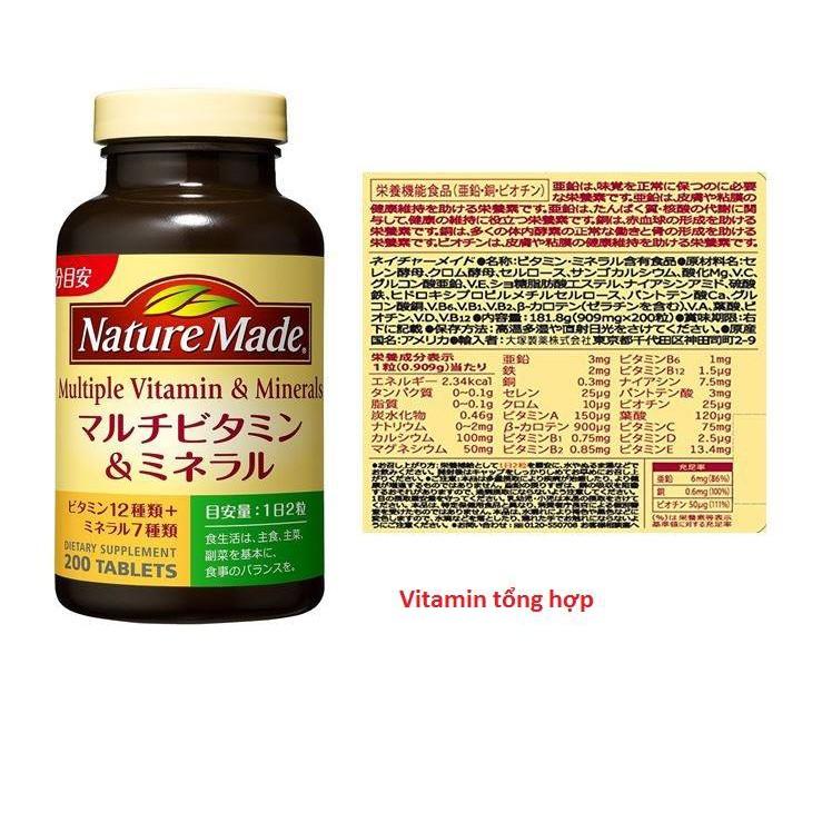 [Có sẵn] Vitamin tổng hợp Nature made Super multiple vitamin & minerals Nhật 200 viên - Xách tay Nhậ - 2949970 , 740214288 , 322_740214288 , 550000 , Co-san-Vitamin-tong-hop-Nature-made-Super-multiple-vitamin-minerals-Nhat-200-vien-Xach-tay-Nha-322_740214288 , shopee.vn , [Có sẵn] Vitamin tổng hợp Nature made Super multiple vitamin & minerals Nhật 200