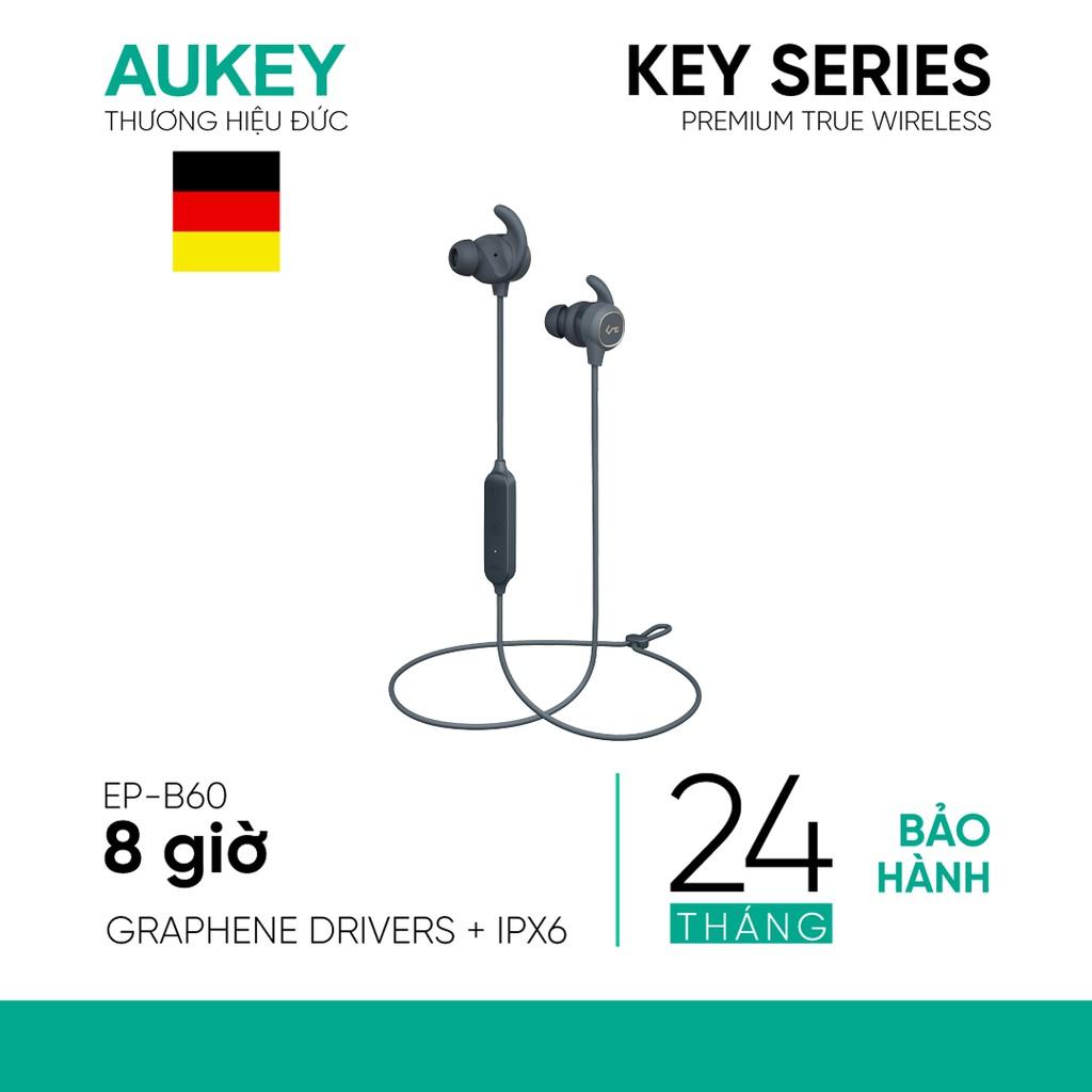 Tai Nghe Bluetooth Nhét Tai Cao Cấp AUKEY EP-B60, Driver 8mm, Chống Nước IPX6, Pin 8 giờ - Hàng Chính Hãng