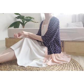 (4 màu) Ruffle Hem Kimono - kimono bèo nhún ở gấu thumbnail