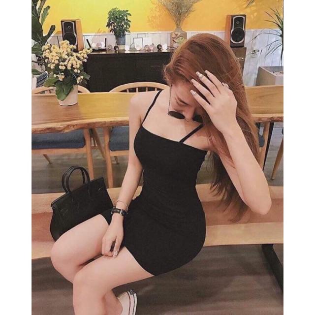 Váy Body 2 Dây Quai Ngang Sexy - 3 Màu Siêu Hot