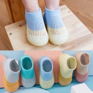 Giày bún tập đi cho bé trai bé gái Mix hai màu vải lưới thoáng khí