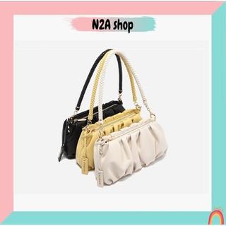 Túi xách nữ [có sẵn + FREESHIP] Túi kẹp nách đeo vai Micocah da mềm nhún 475 N2a shop