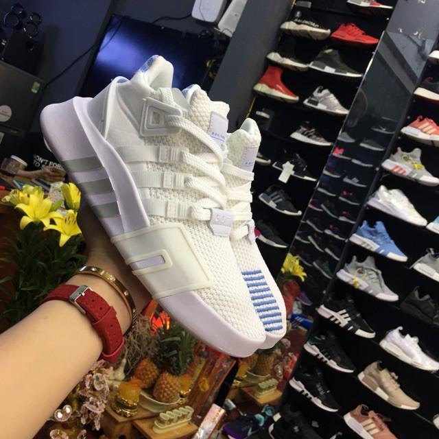 giày eqt 2018 trắng xanh