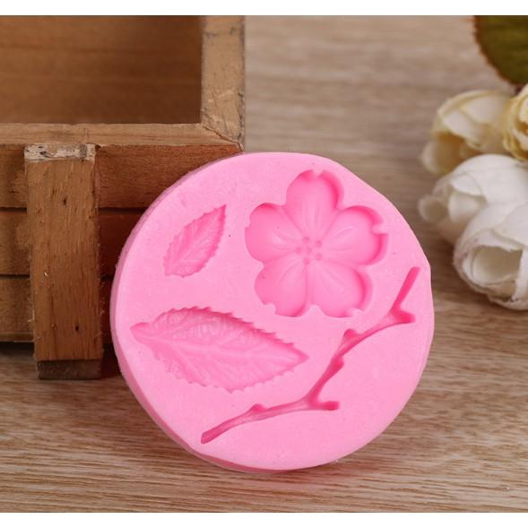 Khuôn silicon 3D hoa lá cành Đào
