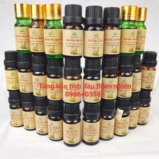 Chai tinh dầu xông thiên nhiên lọ 10ml nguyên chất, tự chọn mùi, hương thơm dễ chịu tươi mới