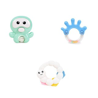 3Pcs Baby Education Toys Teether Rattle bottle Gifts