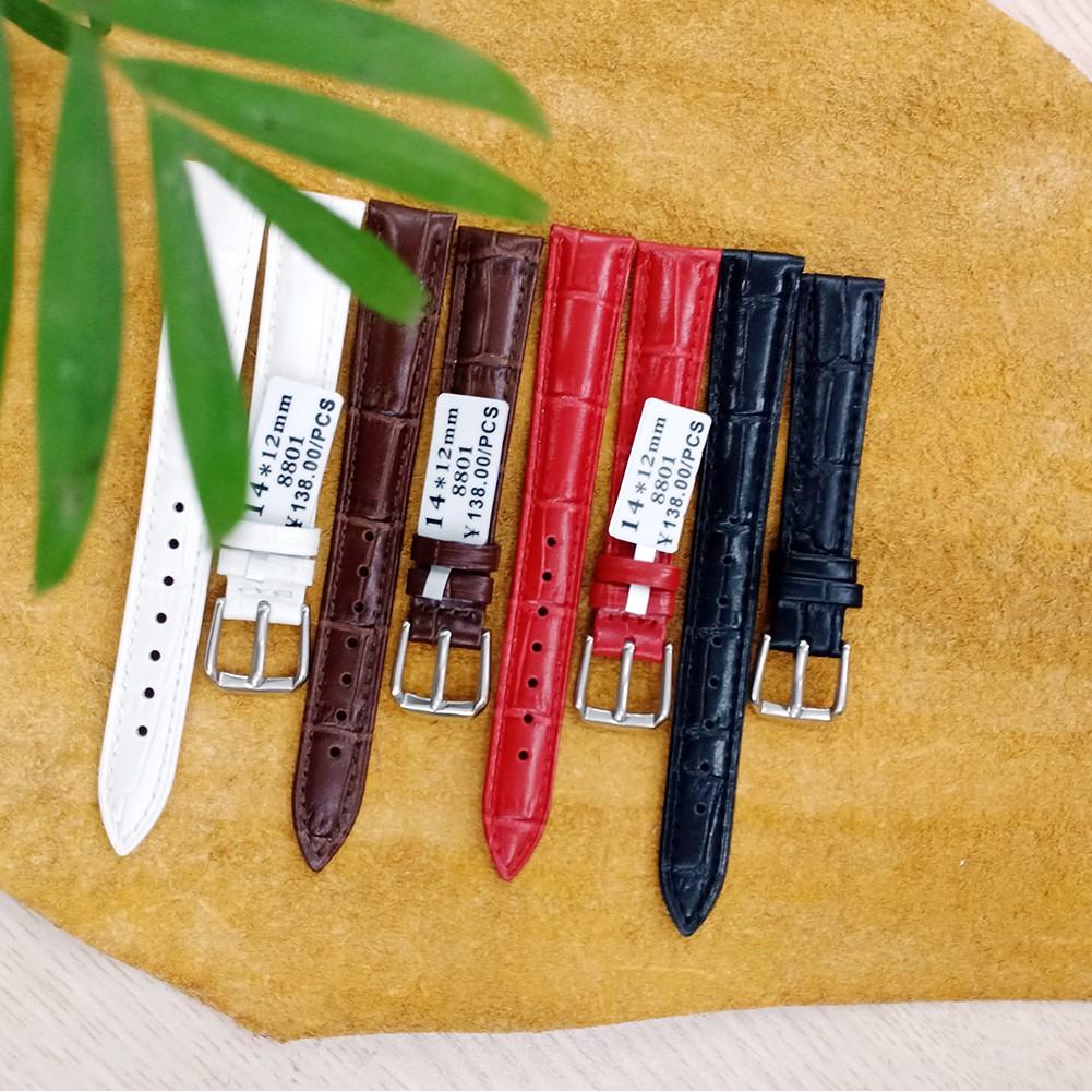 Dây đồng hồ da đeo tay, dây da đồng hồ chính hãng hiệu Aono đủ size FULL MÀU (TẶNG KÈM CHỐT)