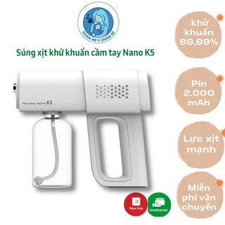 Súng xịt khử khuẩn cầm tay đa năng Nano K5 - Máy phun khử trùng cho gia đình, công ty, cửa hàng thumbnail