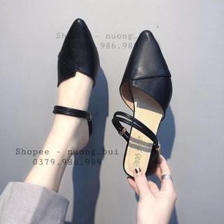 [Mã FASHIONRNK giảm 10K đơn 50K] Giày nữ gót cao 3p siêu xinh - mã 76 thumbnail