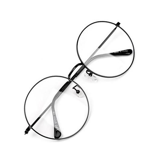 Mắt kính ngố gọng tròn không độ Nobita thời trang (đen)
