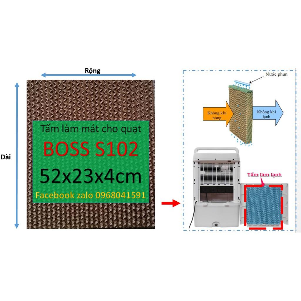 Tấm làm mát cooling pad, tấm làm mát tổ ong cho quạt Boss S102 52x23x4cm