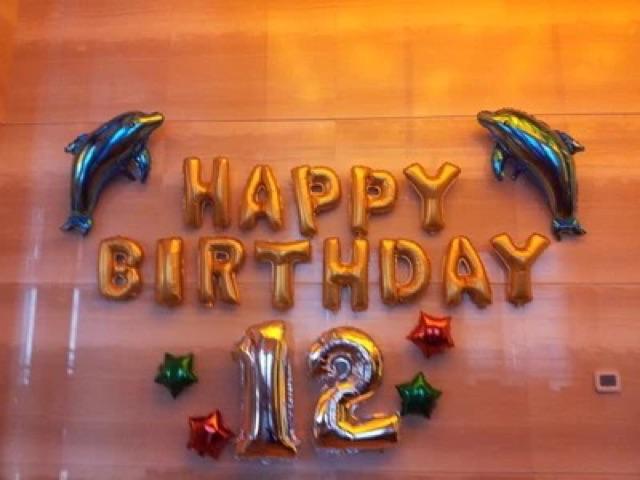 Bóng chữ và bóng số lẻ ghép tên tuổi trang trí sinh nhật