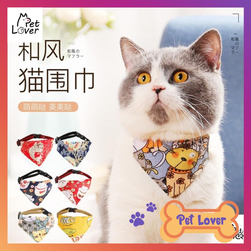 [FREESHIP] Vòng cổ yếm cho mèo phong cách Nhật Bản, siêu cute, siêu ngầu-