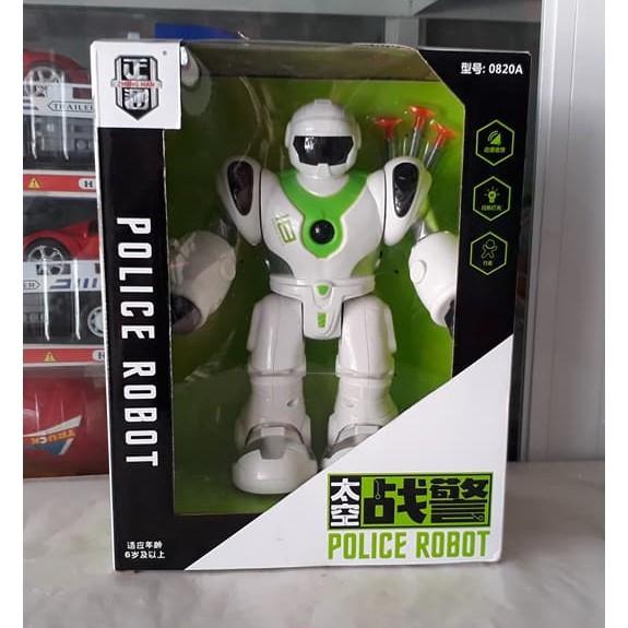 Robot Asimo bắn súng dính (Rôbốt cảnh sát chạy pin)