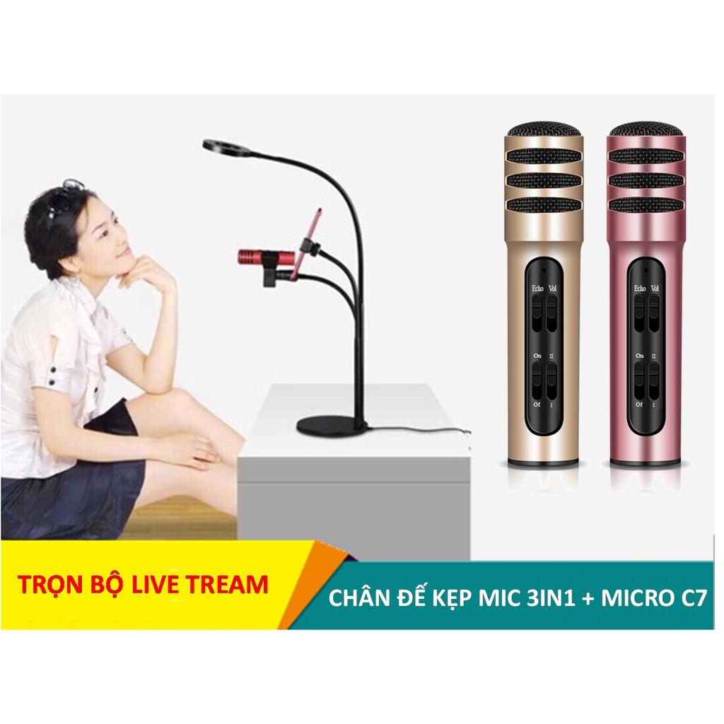 [Combo] Bộ hát karaoke, live tream trên điện thoại ( Chân đế kẹp mic 3in1 có đèn Led + Micro - 3325965 , 1325795189 , 322_1325795189 , 550000 , Combo-Bo-hat-karaoke-live-tream-tren-dien-thoai-Chan-de-kep-mic-3in1-co-den-Led-Micro-322_1325795189 , shopee.vn , [Combo] Bộ hát karaoke, live tream trên điện thoại ( Chân đế kẹp mic 3in1 có đe