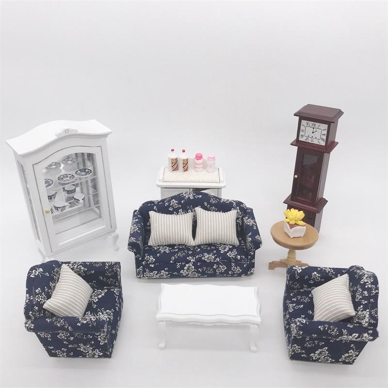 Set 3 Ghế Sofa Mini Tỉ Lệ 1: 12 Cho Phòng Ngủ