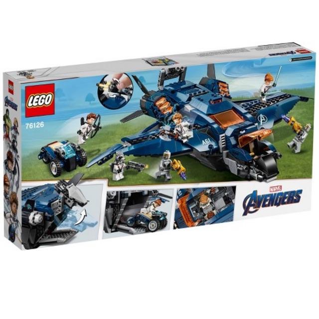 [CÓ SẴN] Lego UNIK BRICK 76126 Avengers Ultimate Quinjet - Máy bay Quinjet của Biệt đội Avengers chính hãng (như...