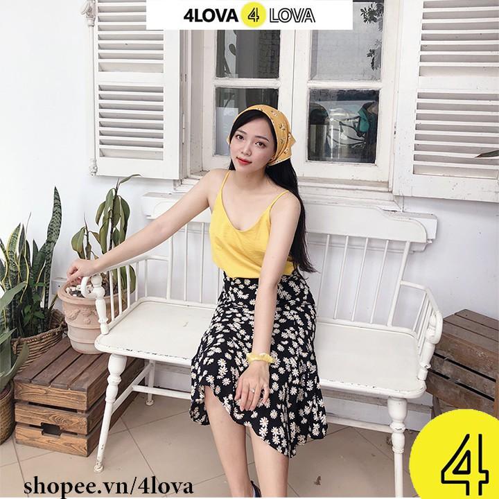 Áo 2 dây nữ basic 4LOVA chất liệu lụa cao cấp nhiều màu đẹp quyến rũ, sang trọng