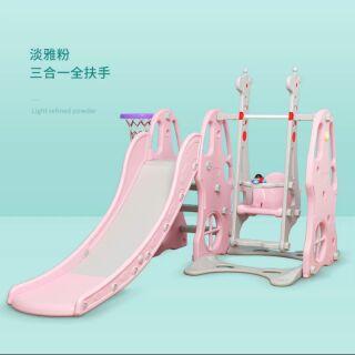Cầu trượt xích đu liên hoàn – loại có tay vịn