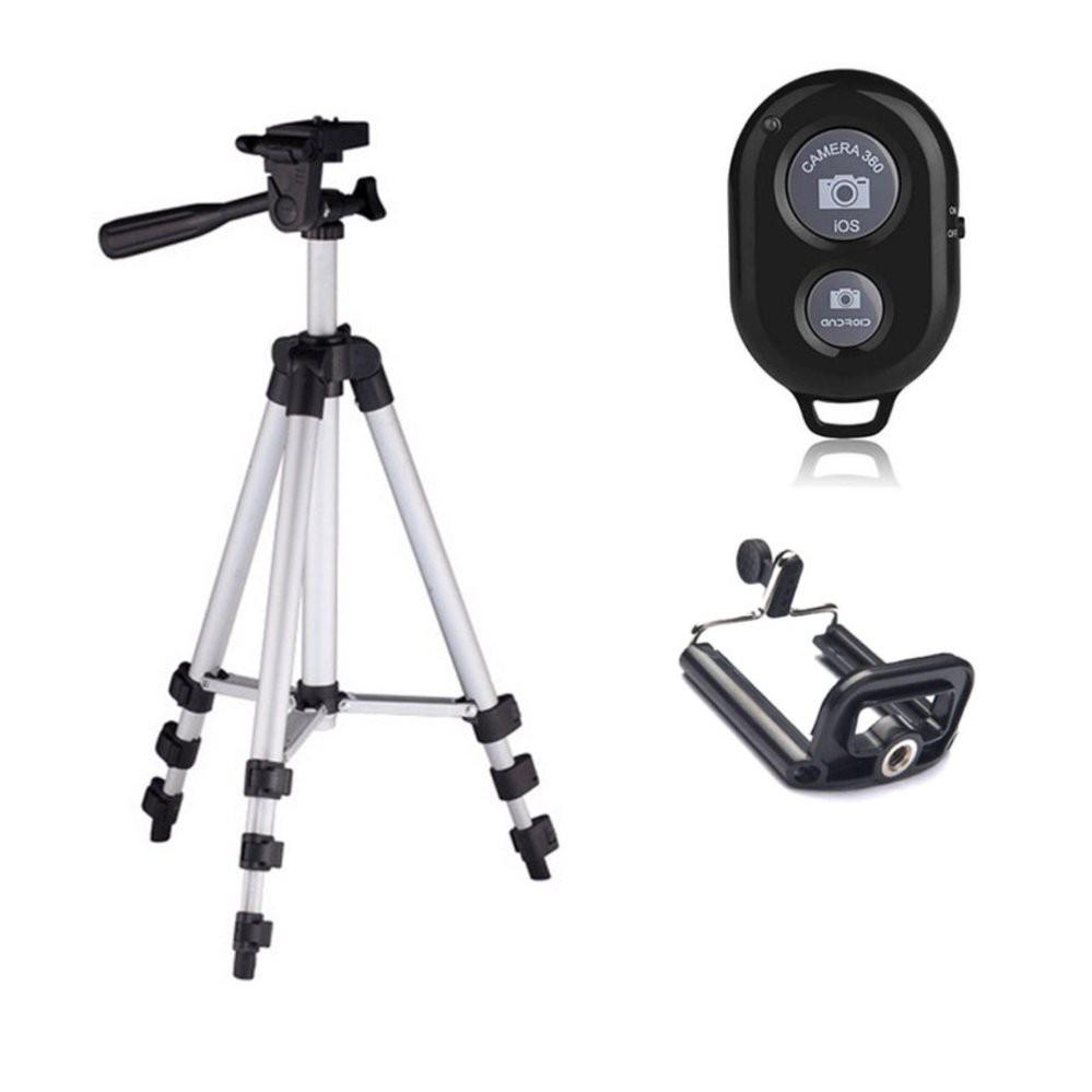 Chân máy chụp hình Tripod 3110 + Remote chụp hình