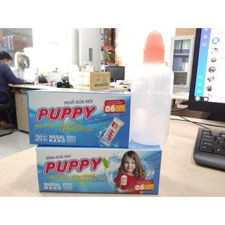 Combo bình rửa mũi cho bé Puppy và 05 gói muối rửa mũi thumbnail