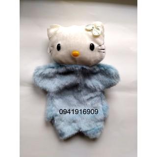 Rối tay mèo Kitty xanh