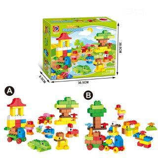 BỘ LEGO XẾP HÌNH LẮP RÁP SÁNG TẠO {vờn thú thiên đường}[LOẠI LỚN][95 CHI TIẾT].