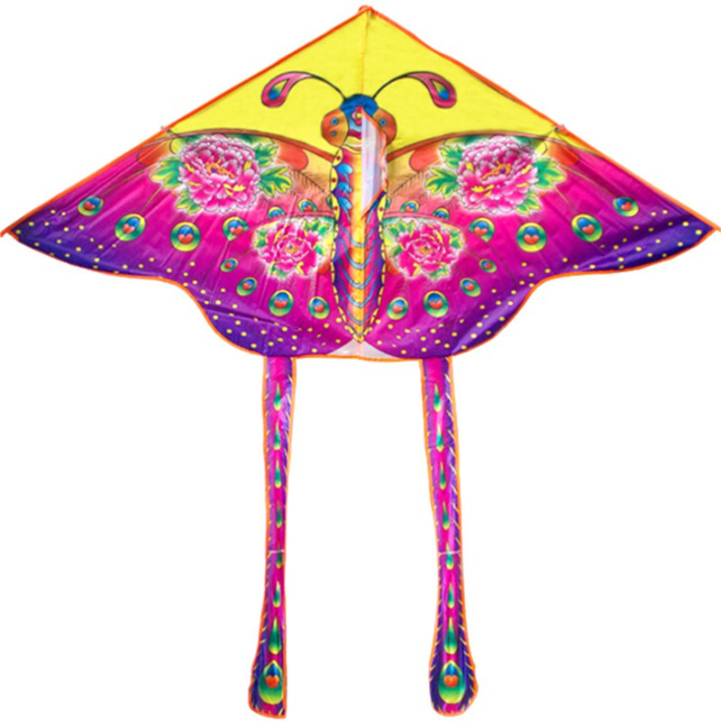 YZVN 90*55cm Rainbow Butterfly Kite Outdoor Foldable Kids Kite With 50M Control
