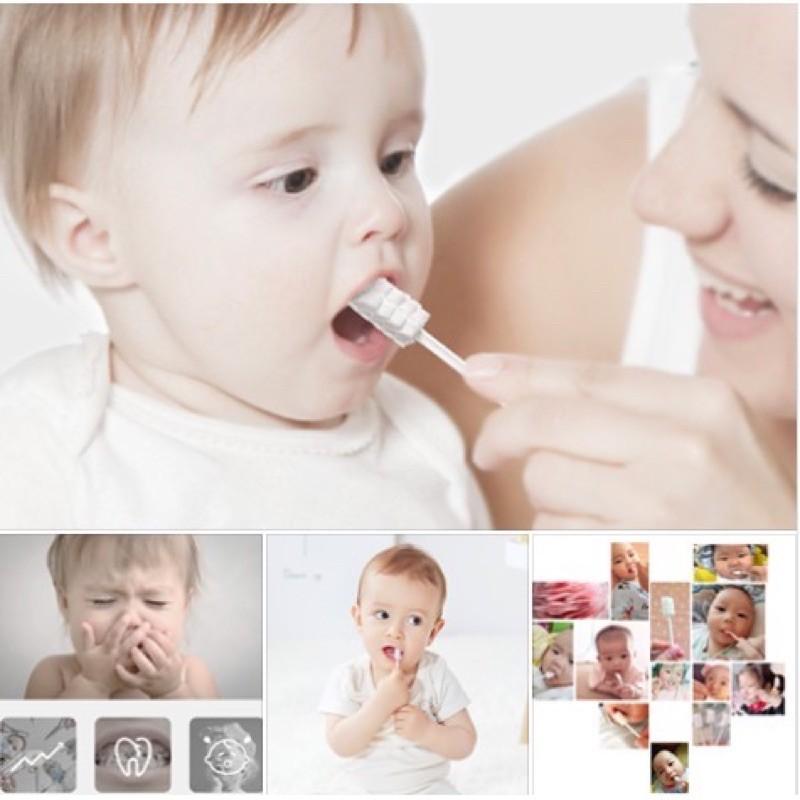 Bộ 30 cây rơ lưỡi GB Hàn Quốc vệ sinh răng miệng cho bé