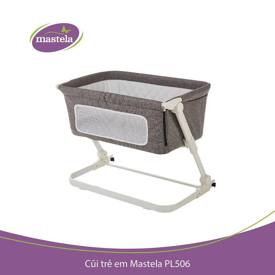 Giường cũi nâng hạ độ cao Mastela PL506 cho bé