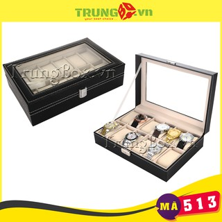 Hộp Đựng Đồng Hồ 12 Ngăn Vỏ Da SAIKE - Mã 513 thumbnail