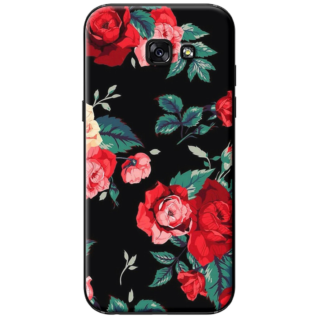Ốp lưng Samsung A3/A5/A7 (2017) - nhựa dẻo Hoa hồng đỏ