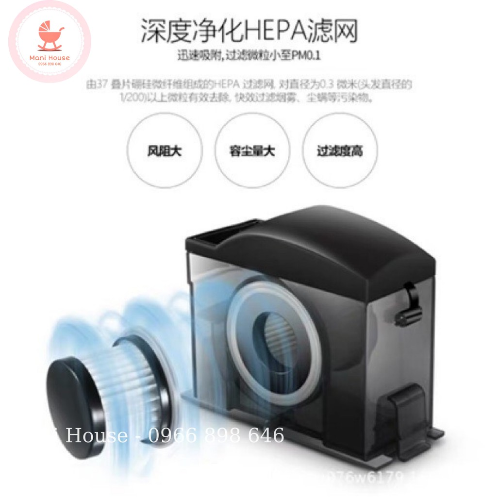 Lõi lọc Hepa thay thế cho máy hút hút bụi Deerma CM800, CM300(S), CM400, CM500, CM900