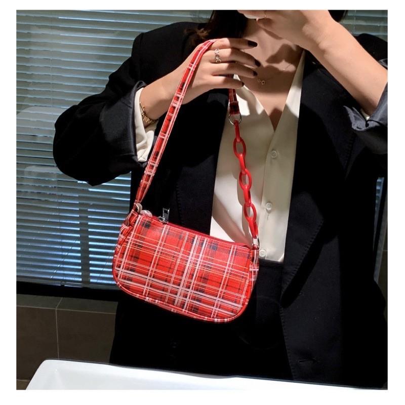 Túi xách nữ/ Túi đeo vai kẻ caro phong cách thời trang TX50