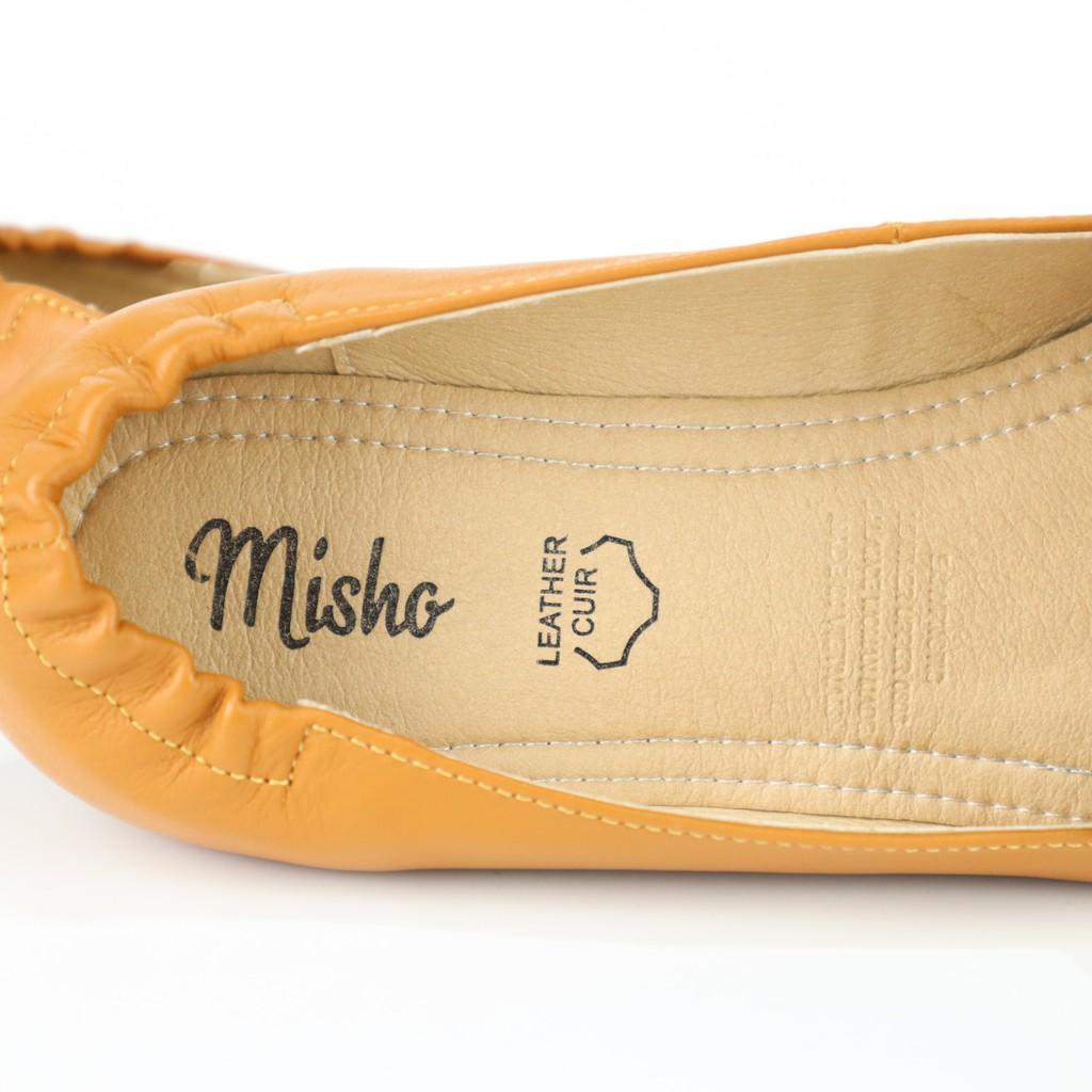 Giày mọi mũi nhọn da thật Misho 1152