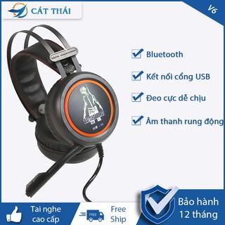 tai nghe chụp tai V6 đèn LED màu, tai nghe v6,tai nghe chơi game âm thanh cực đã