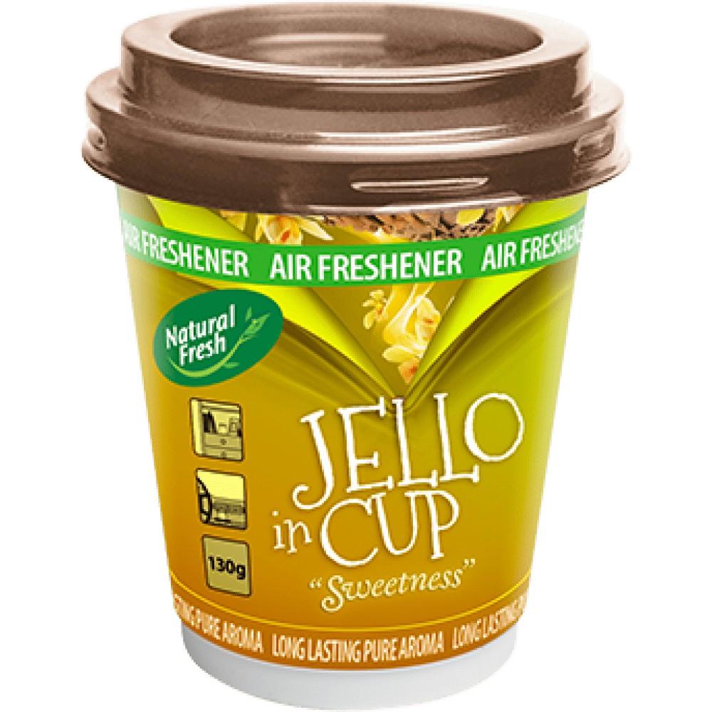 Sáp khử mùi và tỏa hương thơm Jello Natural Fresh 130g dành cho xe ô tô