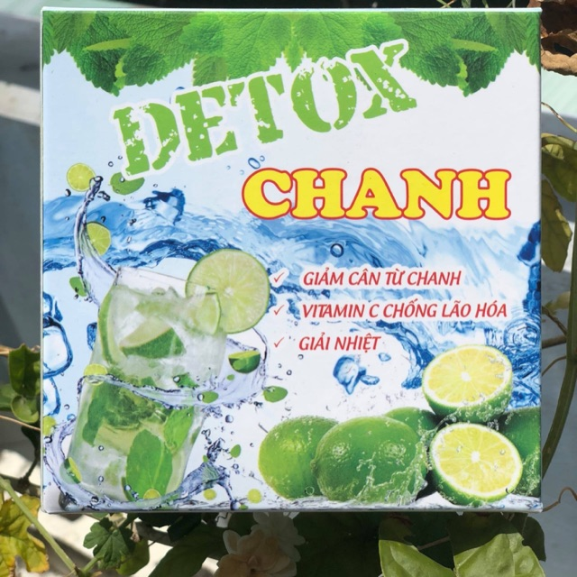 Hộp 20 Gói Detox Chanh Giảm Mỡ Đẹp Da 100% từ thiên nhiên Hộp 20 Gói Detox Chanh Giảm Mỡ Đẹp Da 100% từ thiên nhiên
